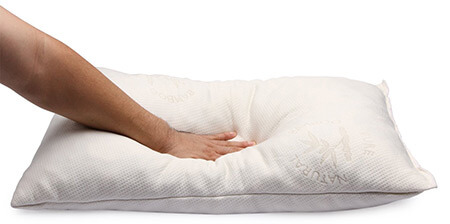 Bamboo Cover Keeps the Shredded Memory Foam Pillow Cool