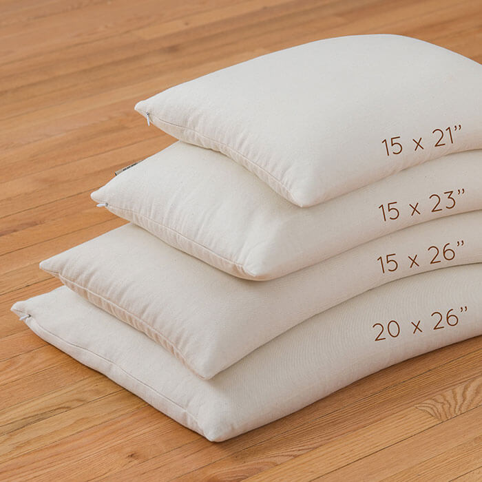 Buckwheat Pillow for side sleeper, Made in USA - ComfySleep