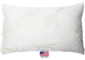 This is the best pillow for side sleepers, Shredded Memory Foam Pillow with Bamboo Cover by Coop Home Goods