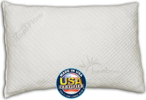 Snuggle-Pedic Bamboo Combination Memory Foam Pillow Supports the Neck For Side, Stomach, and Back Sleepers