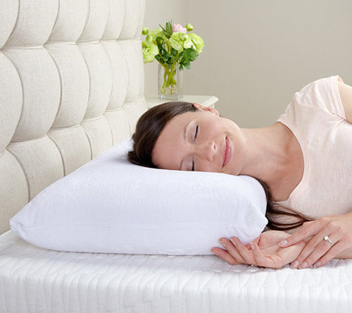 conforma memory foam pillow for side sleepers and back sleepers by classic brands