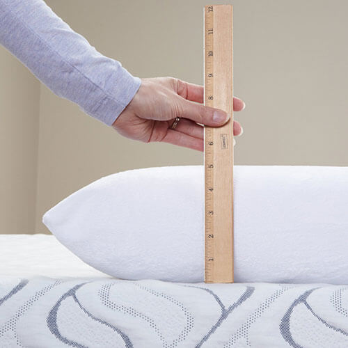 Classic Brands Conforma Memory Foam Pillow is Too Thick for Stomach Sleepers