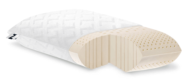 Z by MALOUF 100% Natural Talalay Latex Zoned Pillow best support for side sleepers