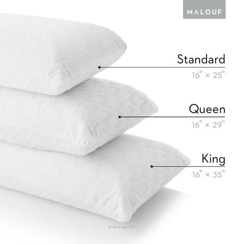 Z by MALOUF 100% Natural Talalay Latex Zoned Pillow for side sleeper