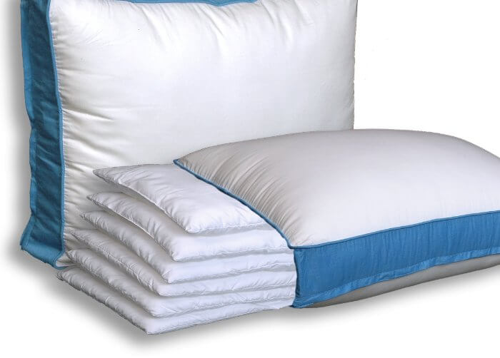 Adjustable Layer Pillow By Pancake Pillow. Perfectly Fits Everyone! Side Sleepers, Stomach Sleepers, Back Sleepers