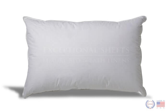 Extra Soft Down Pillow - Great pillow for Stomach Sleepers made by ExceptionalSheets