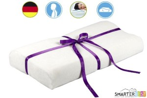 Memory Foam Pillow Contour for Back Pain by Smarter Rest Review