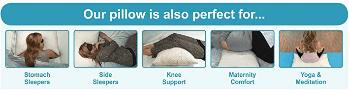 xtreme comforts pillow is also perfect for stomach sleeper, side sleeper, back sleeper, and pregnant women